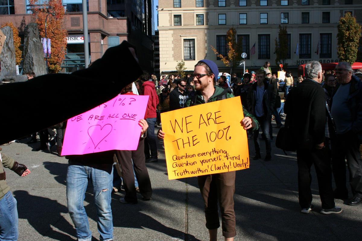 Демонстрация Протеста в Ванкувере