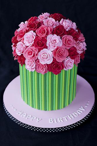 Украшение Торта. Розы. Мастика