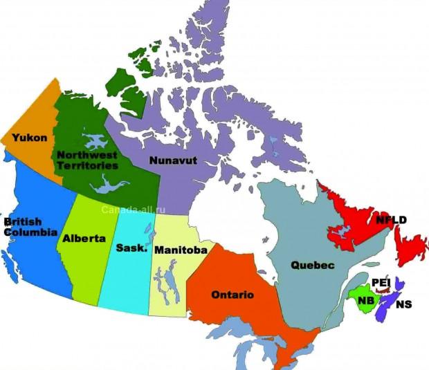 Население Провинций Канады